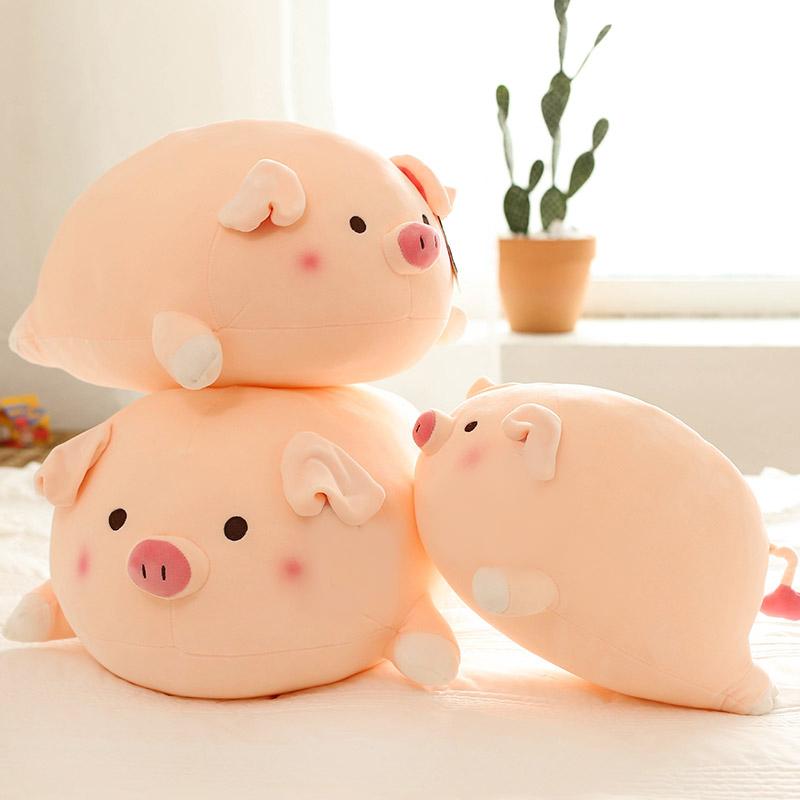 小猪抱枕粉色趴趴猪公仔超软萌毛绒玩具床上睡觉枕头男朋友女生大