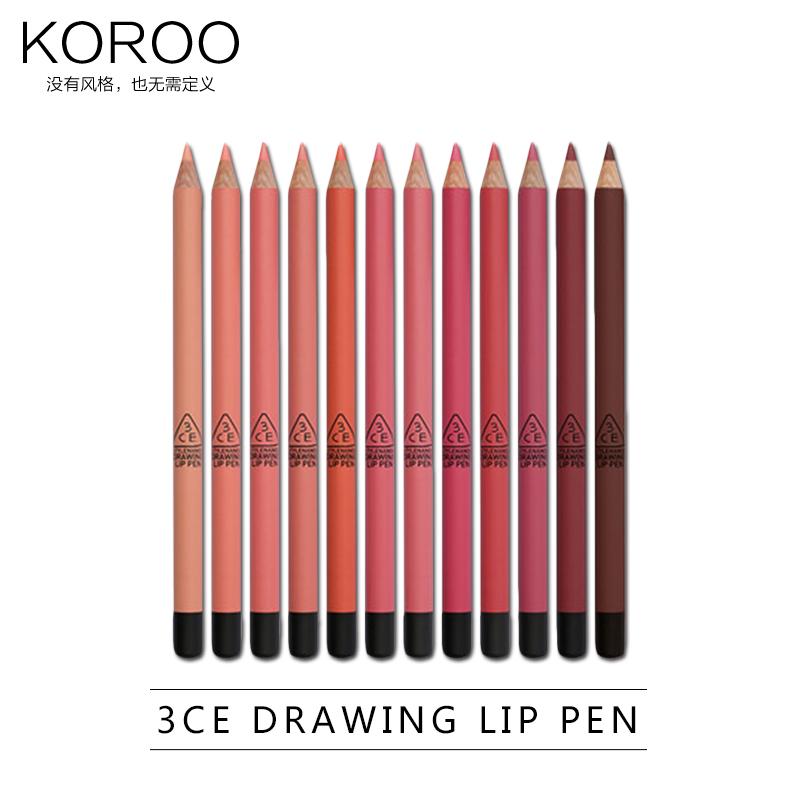 Hàn Quốc mờ mờ 3CE bút chì son môi cắn môi trang điểm môi bút chì môi lót bút mờ mờ (giải phóng mặt bằng)