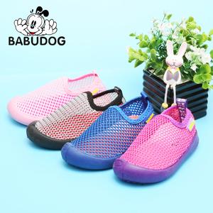 儿童网面鞋宝宝软底学步鞋透气机能鞋