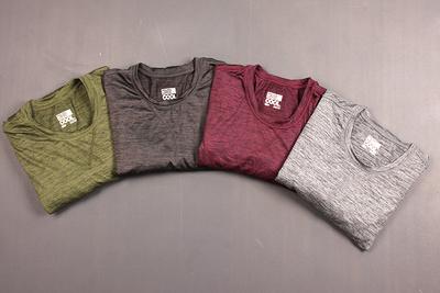 Công nghệ vải cation cao đàn hồi lớn kích thước vòng cổ kem chống nắng thể thao mỏng ngoài trời người đàn ông giản dị của dài tay T-Shirt áo thun polo nam Áo phông dài