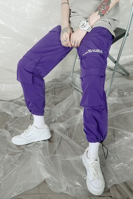 Hip-hop street dance đất nước triều tím chức năng quần đa túi skateboard dây rút yếm quần chân quần tide thương hiệu nam giới và phụ nữ xu hướng Quần làm việc