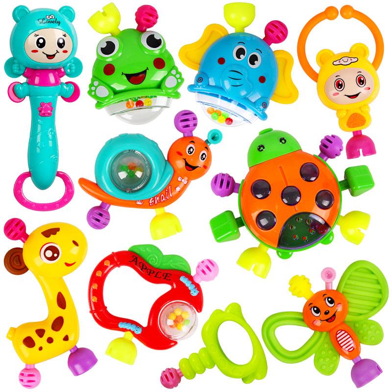 婴儿玩具手摇铃0-3-6-12个月宝宝早教益智牙胶1岁男女孩新生幼儿5