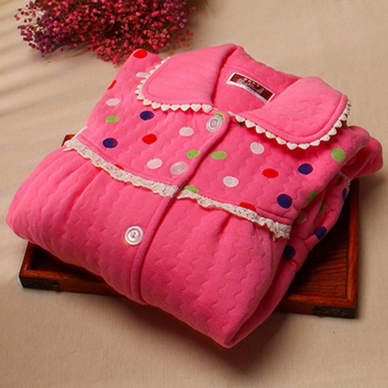 孕妇睡衣冬季加厚睡衣夹棉产后哺乳喂奶外出保暖女套装月子服秋冬