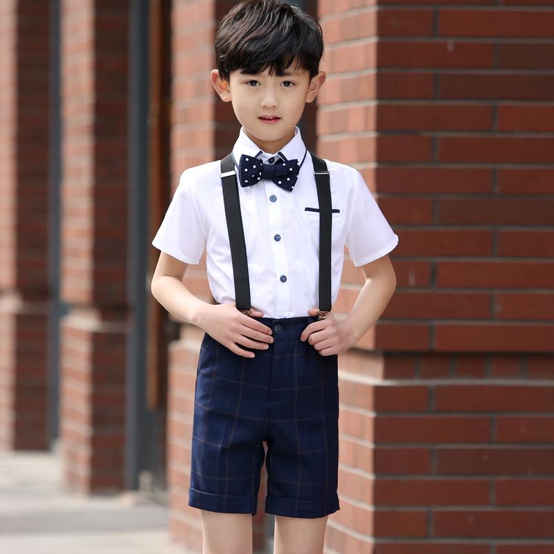Trẻ em ăn mặc nam hoa cô gái ăn mặc cậu bé sáu trẻ em ngày hiệu suất quần áo lớn điệp khúc trang phục dây đeo bộ