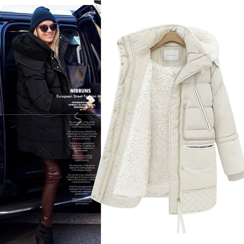 Quần áo mùa đông chống mùa giải phóng mặt bằng dày xuống áo khoác nữ phần dài 2018 Hàn Quốc phiên bản của triều mùa đông chic lamb fur coat nữ