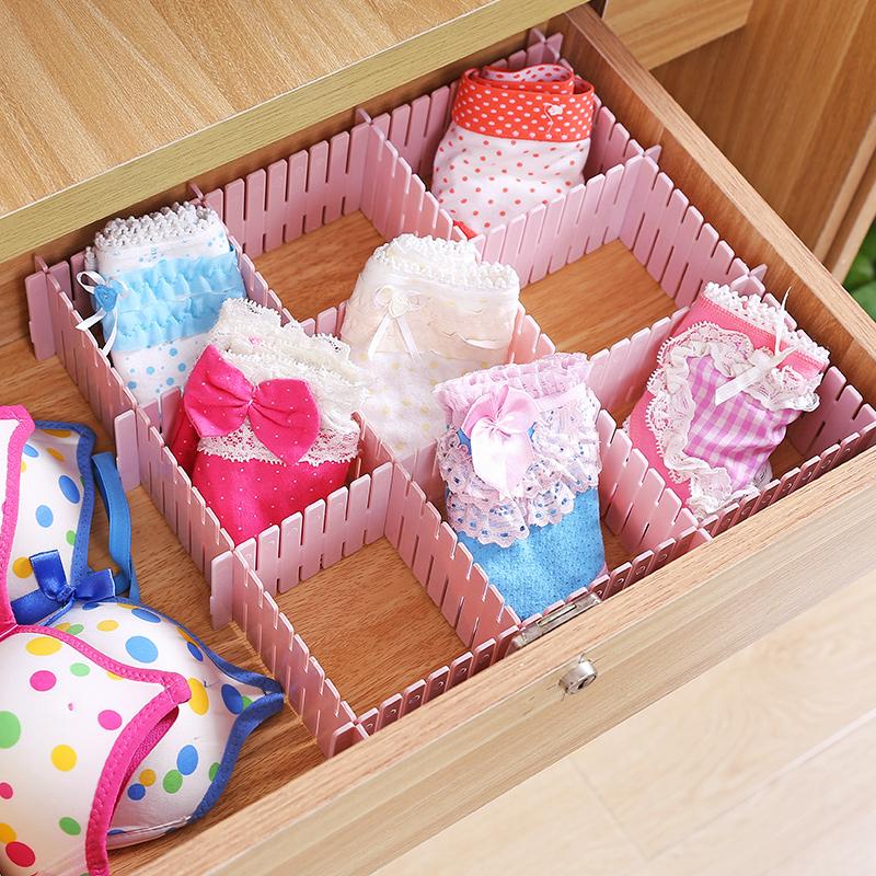 塑料抽屉分隔板自由组合分类隔断隔层内衣格子衣服收纳分割整理格
