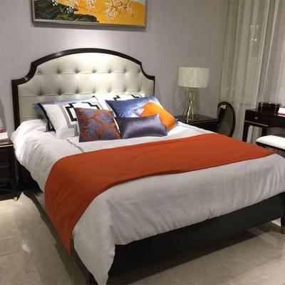 帘舞简约美式小美床上用品多件套样板间展厅家居卖场别墅软装含芯