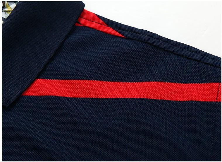 Mùa hè Hàn Quốc nam casual polo áo sơ mi ngắn tay t-shirt nam thời trang thoáng khí cộng với phân bón XL ve áo ngắn tay T-Shirt