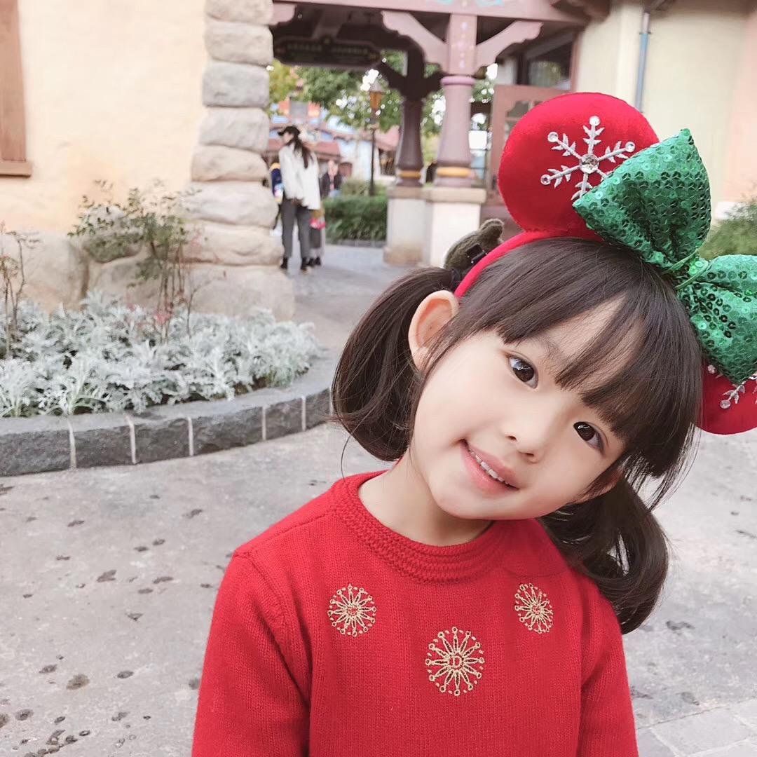 BABY冬装新款女童圣诞裙羊毛厚款刺绣毛衣连衣裙新年服亲子装