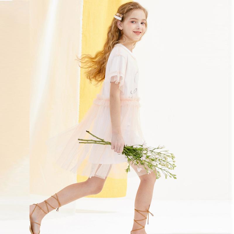 巴拉巴拉 中大女童网纱裙套装 淘宝优惠券折后¥39.9包邮(¥139.9-100)130~160码2色可选