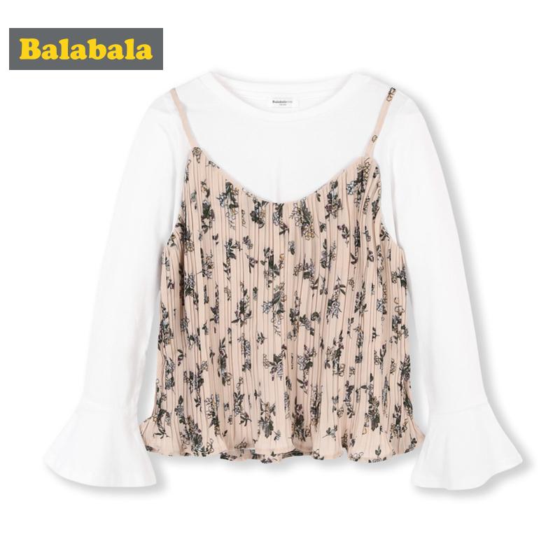 巴拉巴拉 2020年新款 中大女童 长袖吊带套装 淘宝优惠券折后¥39.9包邮(¥139.9-100)130~165码可选