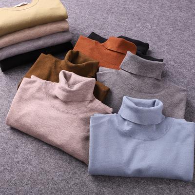 Phúc lợi hàng hóa cứng! 5 loại vải lớn! Mùa thu và mùa đông nam áo len cao cổ áo len mỏng áo len lụa - Hàng dệt kim