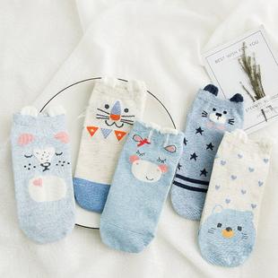 高品质纯棉日系短袜女潮袜5双装第二件半价