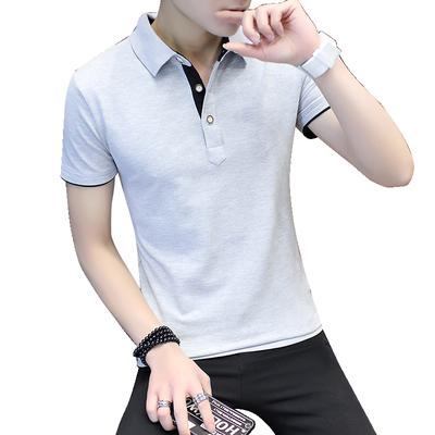 Mùa hè ngắn tay t-shirt nam cotton ve áo nửa tay Slim POLO áo giản dị thanh niên kích thước lớn nam quần áo triều