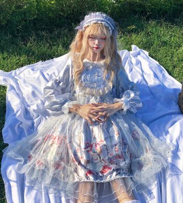 taobao agent Sugar girl ~ factory original design Lolita dress autumn fairy op long-sleeved dress reflective spring and autumn models