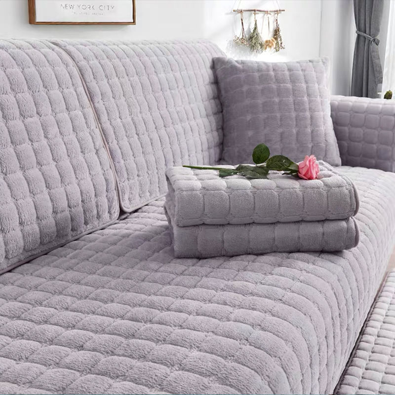 沙发垫四季通用简约冬季毛绒防滑布艺沙发套全包加厚毛绒沙发坐垫