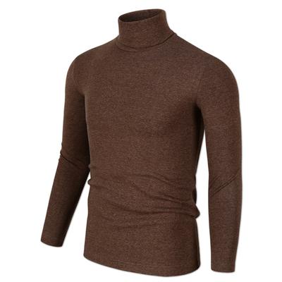 Của nam giới mùa thu phương thức cao cổ áo dài tay t-shirt nam slim body áo sơ mi cơ thể chặt chẽ áo Hàn Quốc phiên bản của quần áo máu áo thun trắng nam Áo phông dài