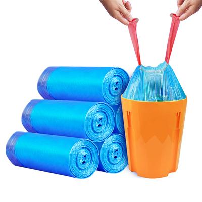 优云抽绳大号垃圾袋加厚生活家用手提式一次性带收拉绳塑料袋包邮