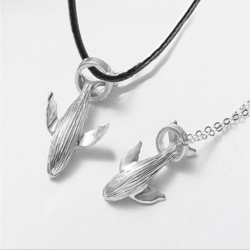 52赫兹鲸鱼项链男士情侣S925纯