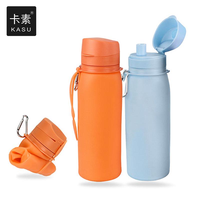 户外硅胶水壶健身运动水杯旅行便携可折叠杯子登山大⌒软水袋750ml