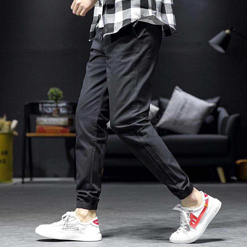 祖玛珑休闲裤男士裤子宽松小脚工装裤