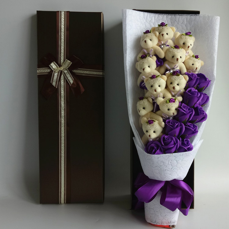 Color Classification 11 Purple Rose 1 Gold Foil Gift Box 15 2 Bear 22 Coffee 33