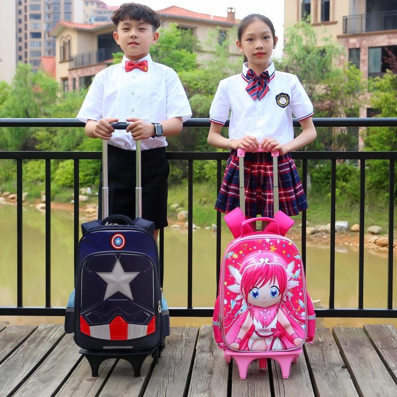 小学生拉杆书包儿童双肩背包1-3-5年级男孩6-12周岁女孩公主可爱4
