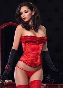 Tại chỗ American leg avenue sexy xương cá mềm satin gỗ tai trim corset corset