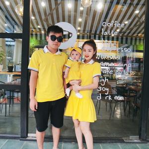 Chen Chen Ma bé Xiêm ngắn tay nam giới và phụ nữ bé cha mẹ và con ve áo Cáp Nhĩ Tân bé romper sơ sinh sóng