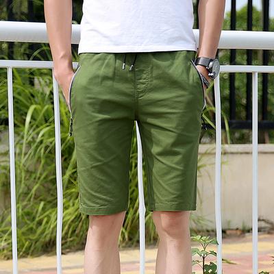 Mùa hè quần short túi dây kéo siêu mỏng cotton năm quần quần 57 điểm quần giản dị ban nhạc đàn hồi mùa hè