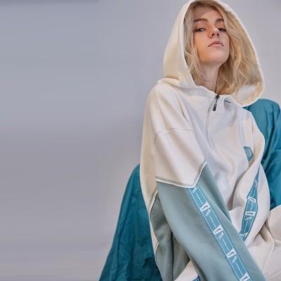 NOCAO 2018ss thiết kế ban đầu tide thương hiệu khâu chuỗi hoodie nam giới và phụ nữ retro loose vai trùm đầu áo len Áo len