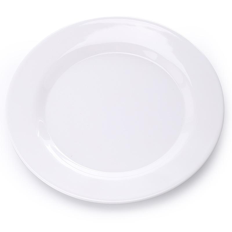 商用仿瓷密胺菜盘饭店白色盘子餐厅骨碟圆形平盘塑料碟子酒店餐具