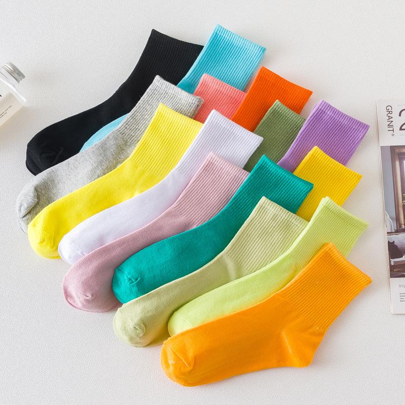 5双中筒袜女春秋款袜子
