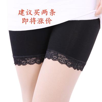 Xà cạp phụ nữ bông mùa xuân và mùa hè 2018 mới Hàn Quốc phiên bản của ren mặc chống ánh sáng an toàn quần quần ba quần Quần tây thường