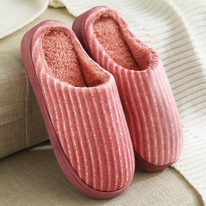 【良品同款5.8元】日式绒棉拖鞋