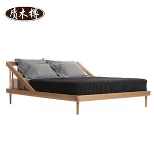 Bắc âu Nhật Bản phong cách rắn giường gỗ giường đôi giường đơn 1.2 m 1.5 m trẻ em thanh niên của giường gỗ hàng rào giường