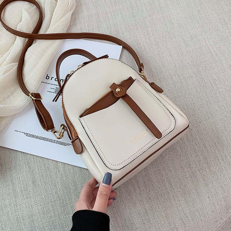 上新小包包女新款潮洋气百搭双肩包时尚百搭质感学生背包