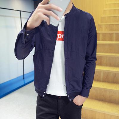 Của nam giới áo khoác 2018 mùa xuân và mùa hè mới Hàn Quốc phiên bản của tự trồng vài đồng phục bóng chày phần mỏng thoáng khí kem chống nắng quần áo nam áo khoác Đồng phục bóng chày