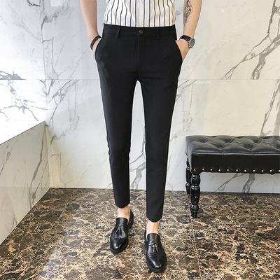 Mùa hè phần mỏng quần âu Hàn Quốc phiên bản của xu hướng quần thanh niên chân quần người đàn ông hoang dã của quần đẹp trai quần Mỏng Quần