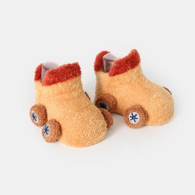 婴儿袜子秋冬纯棉地板袜女宝宝防滑底0-3-6个月袜子鞋新生儿男