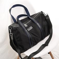 韩版手提长短途旅行包女时尚休闲配真皮行李袋大容量包男   8009#