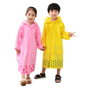 【艾来雨】儿童带书包防水厚雨衣