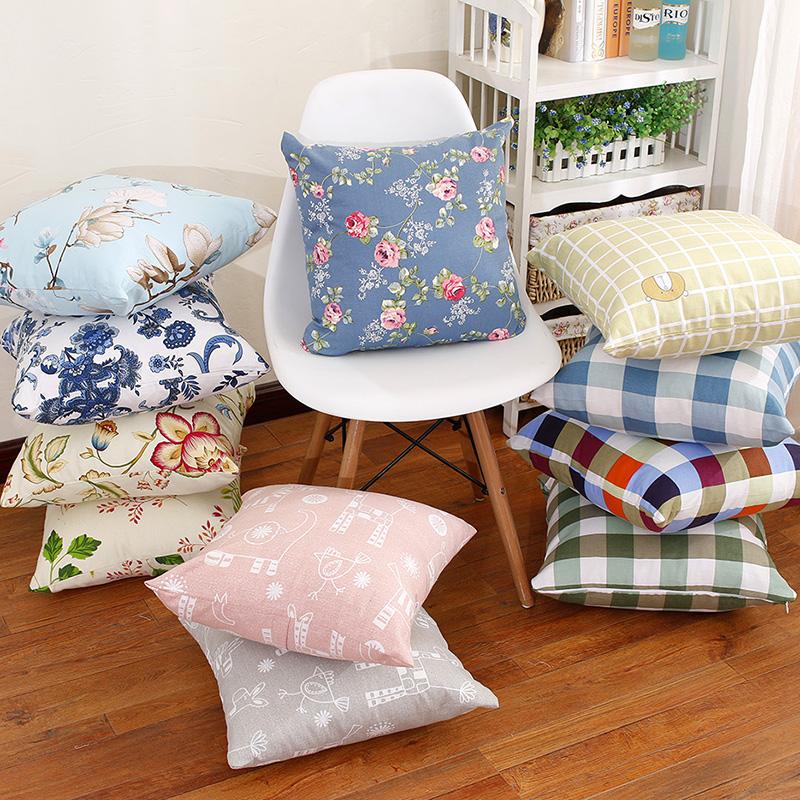 Tươi và đơn giản vườn bông gối gối sofa đệm giường đệm xe gối đệm giường đệm