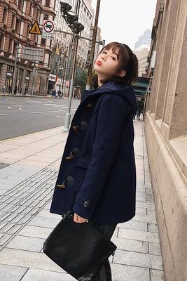 Sừng sừng khóa áo len nữ sinh viên 2018 mùa thu và mùa đông Hàn Quốc phiên bản mới của dày phần dài của người đàn ông nhỏ áo len