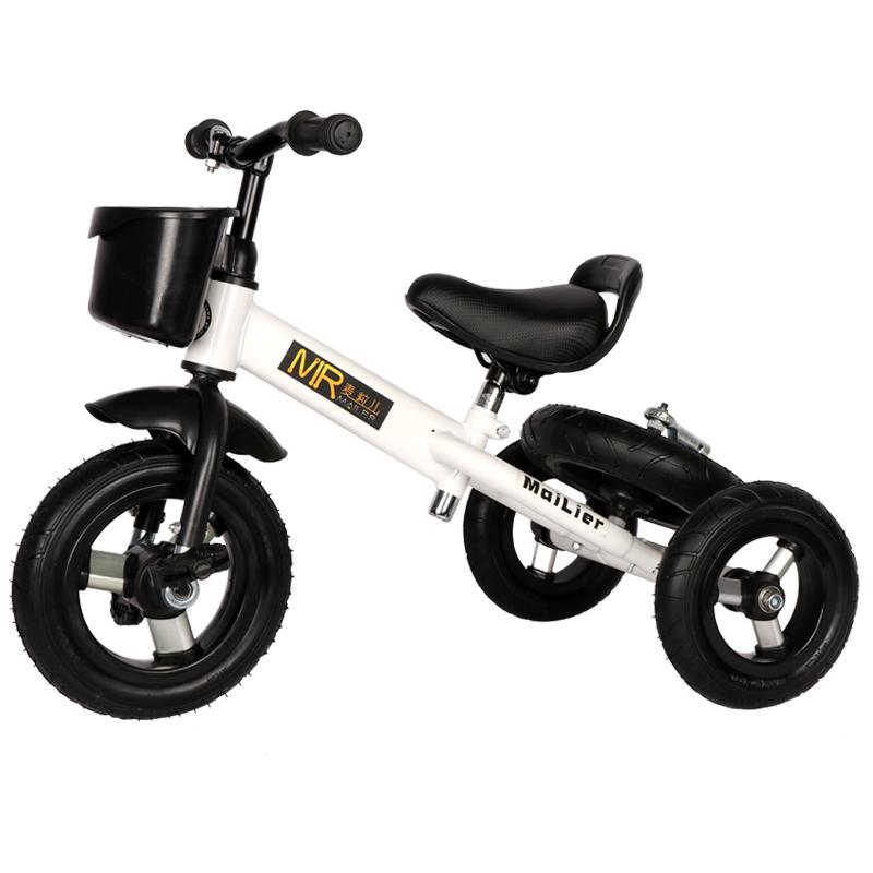 麦粒儿儿童三轮车宝宝自行车多功能脚踏车3-6岁童车漂移车玩具车