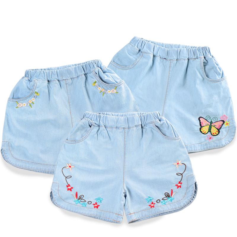 2019夏季女童牛仔短裤新款软牛仔水洗纯棉薄款外穿儿童五分裤热裤