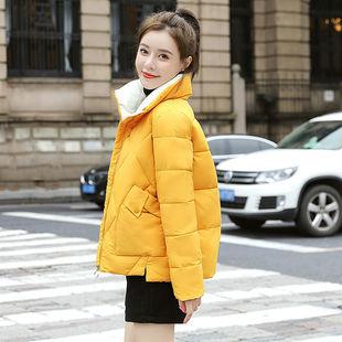 棉服女短款2021冬新款韩版加厚百搭棉衣