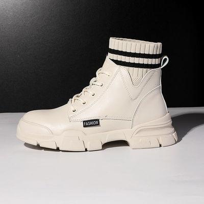 马丁靴女鞋秋季新款2020年冬季加绒加棉靴女韩版百搭英伦风短靴51