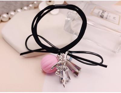 韩国进口皮筋水晶简约发圈发绳头饰可爱范儿芭蕾公主扎头发饰品