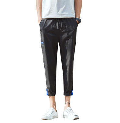 Cắt quần nam mùa hè xu hướng 8 tám quần Hàn Quốc phiên bản của quần hậu cung lỏng thường 7 quần của nam giới chân 9 chín quần Quần mỏng